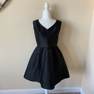 eShakti fit flare black cocktail dress #4672